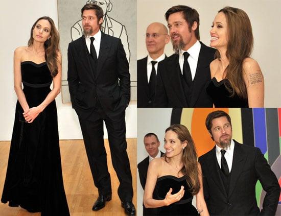 Photos of Angelina Jolie and Brad Pitt at MOCA Gala in LA 2009-11-15 14:34:16