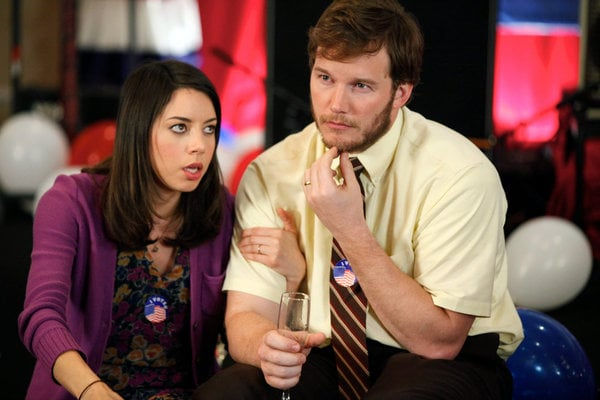 april and andy from parks and rec halloween costume ideas for couples popsugar entertainment. Black Bedroom Furniture Sets. Home Design Ideas