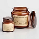Sandalwood and Tobacco Filled Apothecary Jar Candle