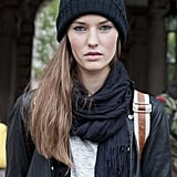 8. Pick a scarf and beanie in the same shade to pull your look together.
