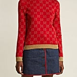 Gucci GG Jacquard-Knit Cotton-Blend Sweater