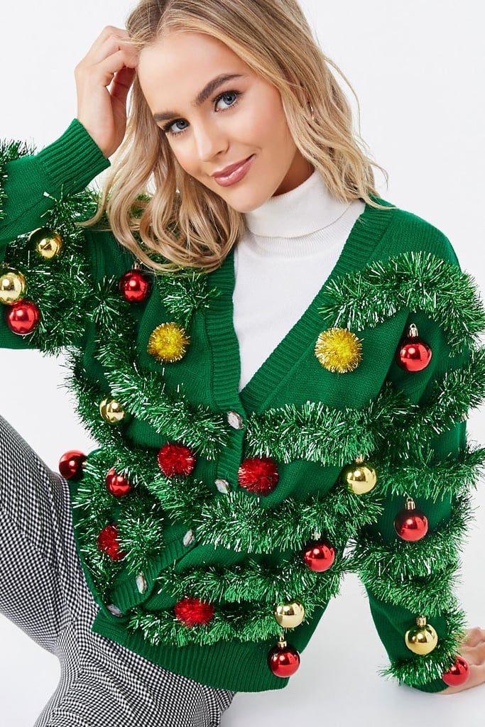 Women\u2019s Forever 21 Green Leg Lamp Ugly Christmas Sweater Dress Size Medium