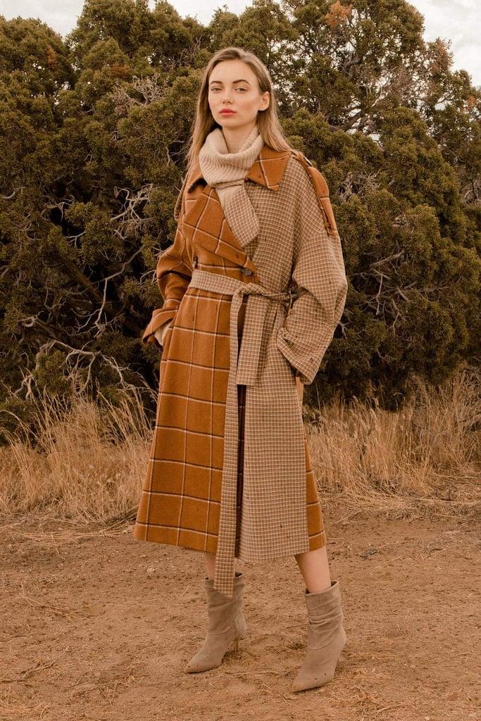 J.ing Mixer Brown Trench Coat