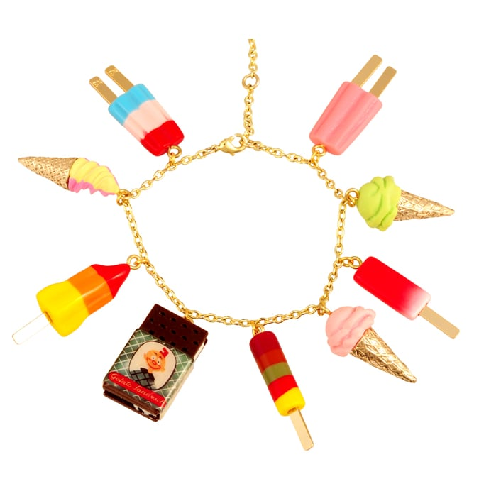 How perfect is this charm bracelet ($87), which actually includes an ice cream sandwich?