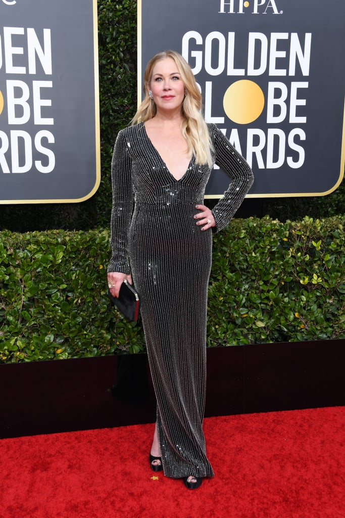 Christina Applegate at the 2020 Golden Globes