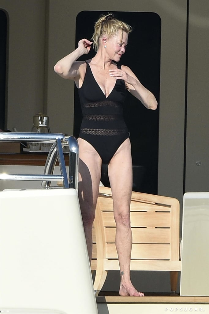 Melanie Griffith on a Yacht in Italy Pictures June 2018