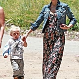 Gwen Hits the Park With Zuma and His Broken, but OK, Arm