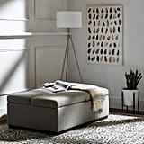 Rivet Fold Modern Ottoman Sofa Bed