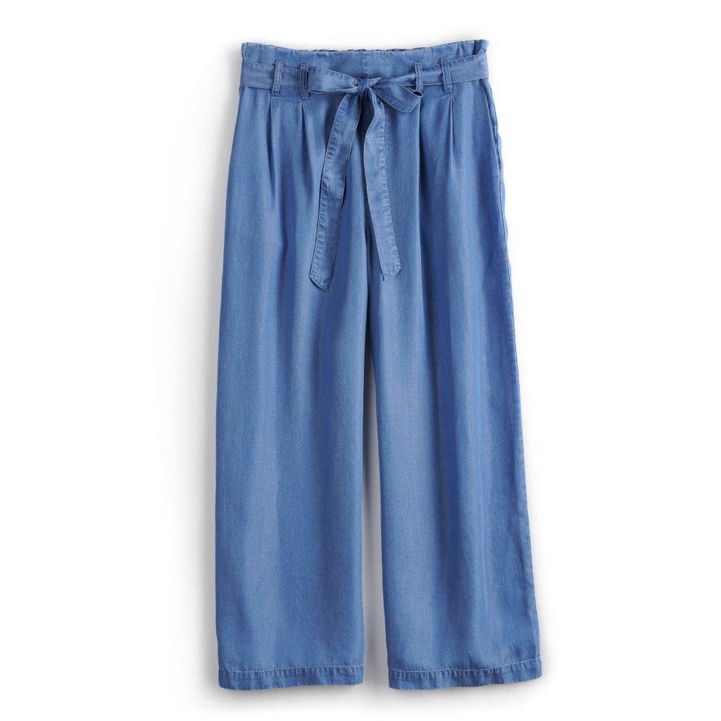 POPSUGAR Chambray Wide-Leg Pants