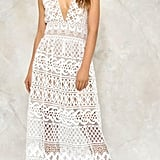 Stay cool in this sheer white dress from Nasty Gal ($120).