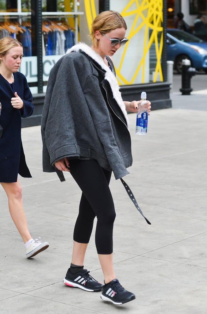 Jennifer Lawrence Seen Leaving SoulCycle