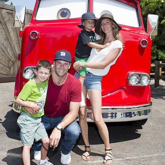 Gisele Bundchen and Tom Brady took their sons, Jack and Benjamin, to Disneyland in July 2013.