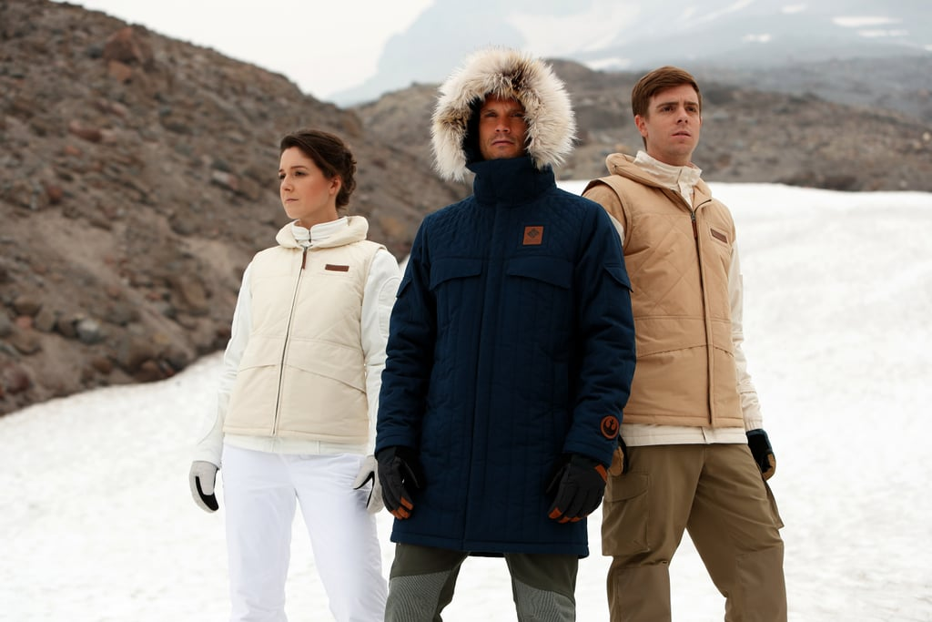 "When it comes to staying warm in icy weather, you can either do things Luke Skywalker's way (with stinky tauntaun guts) or you can do them the fashionable way. Thankfully, with Columbia sportswear's new Star Wars coat collaboration, that's much easier to do! The company is offering three limited-edition coats — inspired by Luke Skywalker, Han Solo, and Princess Leia Organa, respectively — in its ""Echo Base"" collection just in time for the release of Star Wars: The Last Jedi. The coats are each priced at $400, and Columbia's high-performance technologies will help ""stand up to the freezing conditions on planet Hoth, or other galaxies closer to home."" There are only 1,980 of each coat available (in honor of the original 1980 Star Wars release date), and you can grab yours online or in Columbia retail stores starting on Dec. 8. Check out these photos of the intergalactically chic jackets, which — unlike Luke's tauntaun — won't smell bad on the inside or outside. We think there's an obvious winner in this competition, don't you?"
