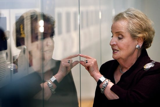 Madeleine Albright Had Her Diplomatic Message Pinned Down