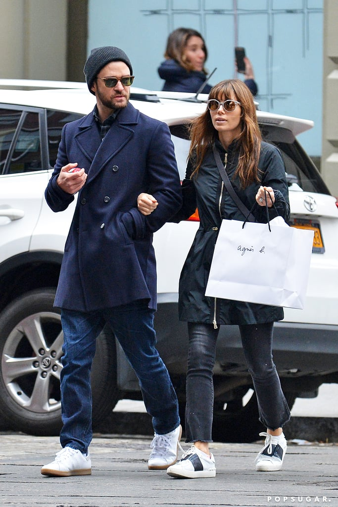 The duo walked arm in arm while doing some holiday shopping in NYC in November 2016.