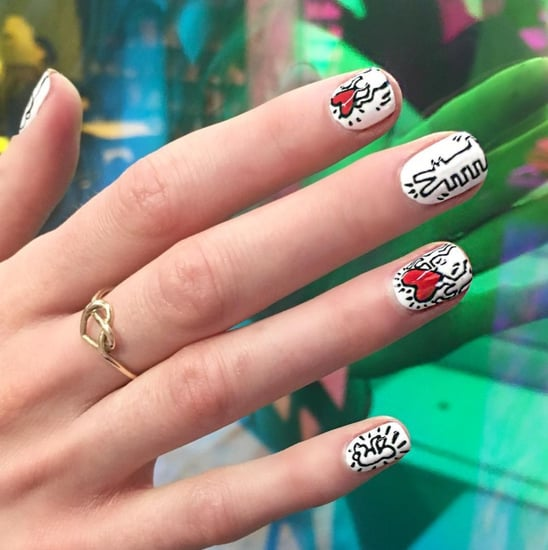 Keith Haring-Inspired Nail Art