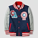 Toddler Boys' Captain America Varsity Jacket