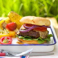 Fast & Easy Dinner: Barbecue-Sauced Burgers