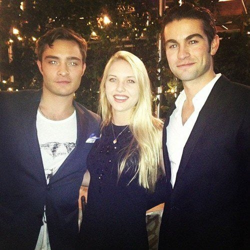 Chace Crawford and Ed Westwick celebrated the show's final season.  Source: Facebook user Chace Crawford