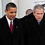Transitioning power despite the cold during Obama's inauguration in 2009