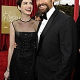 Anne Hathaway Picks a Sheer Gown For the SAG Awards
