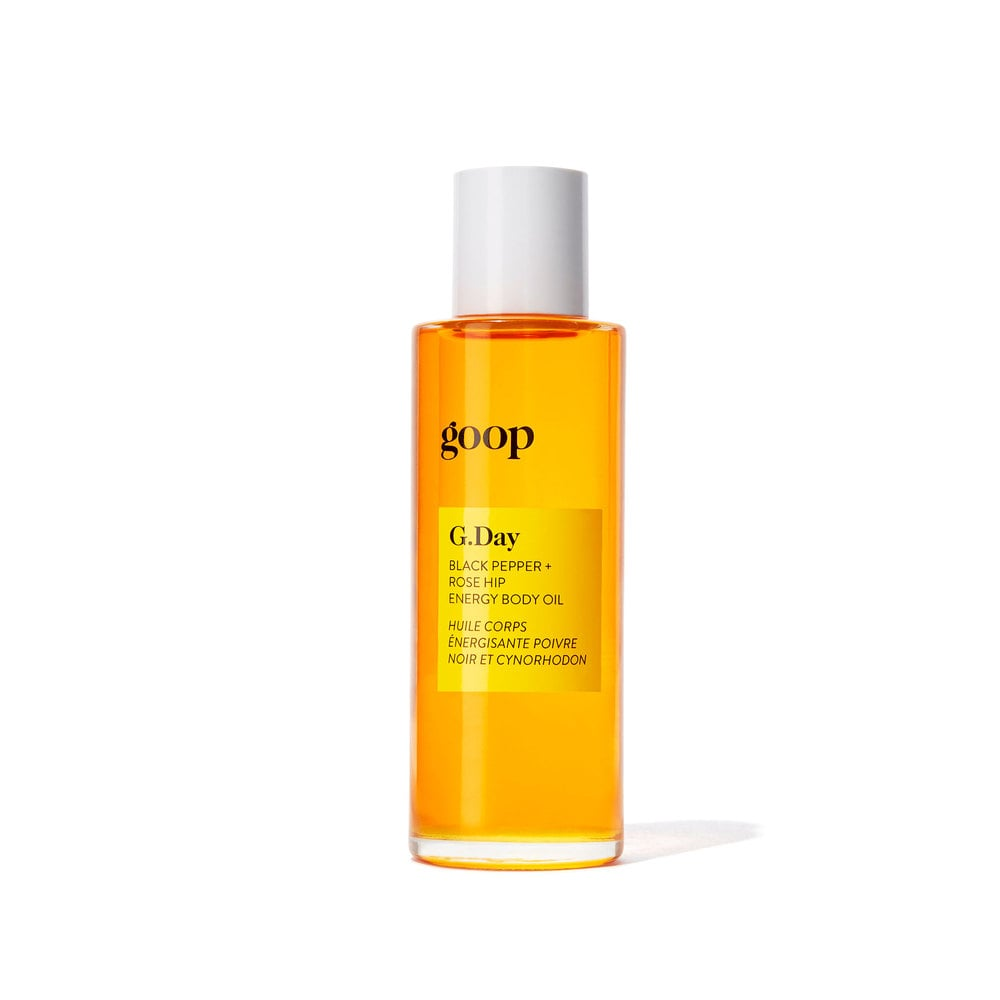 Goop G.DAY Black Pepper + Rose Hip Energy Body Oil