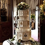 The cake is, fittingly for Downton, grand and over-the-top. Source: PBS