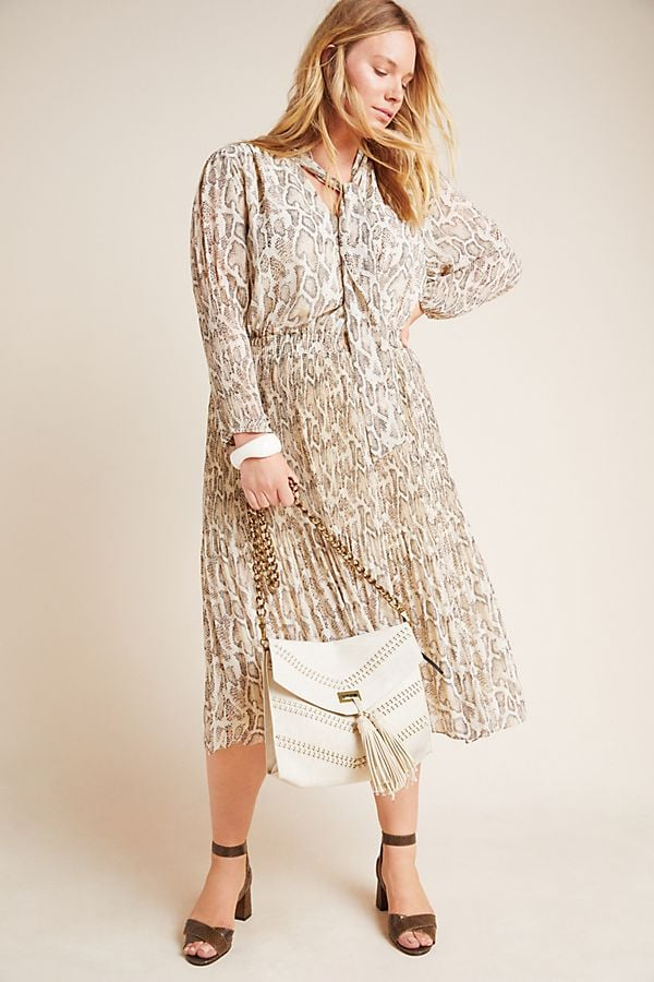 Current Air Olivia Snake-Printed Midi Dress
