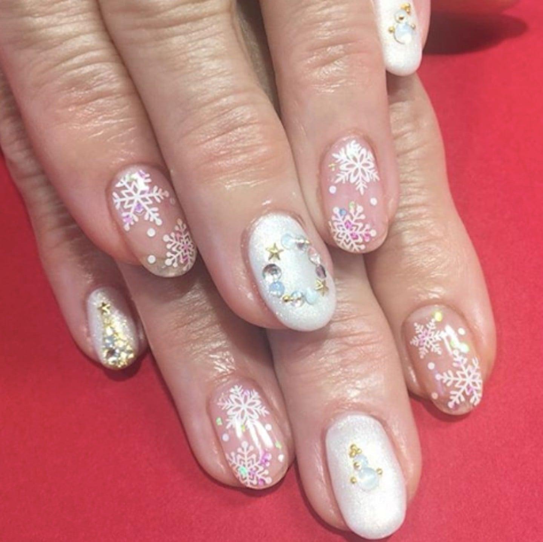 - Snowflake Nail Art POPSUGAR Beauty