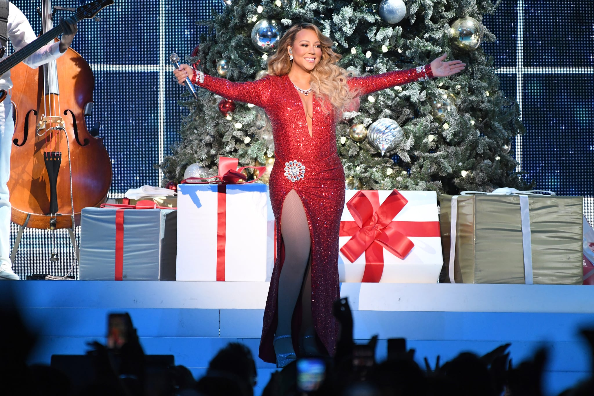 NEW YORK, NEW YORK - DECEMBER 15:  Mariah Carey performs onstage during her