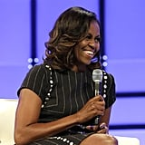 Michelle Obama's Pinstripe Dress Is the Furthest Thing From Average Workwear