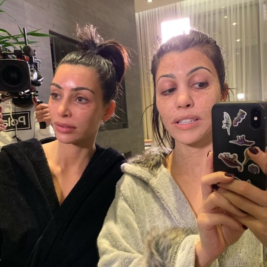 Kim and Kourtney Kardashian Using Hanacure Face Mask