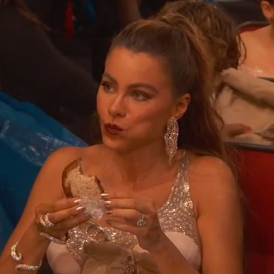 Sofia Vergara Eats Sandwich at Emmys 2016