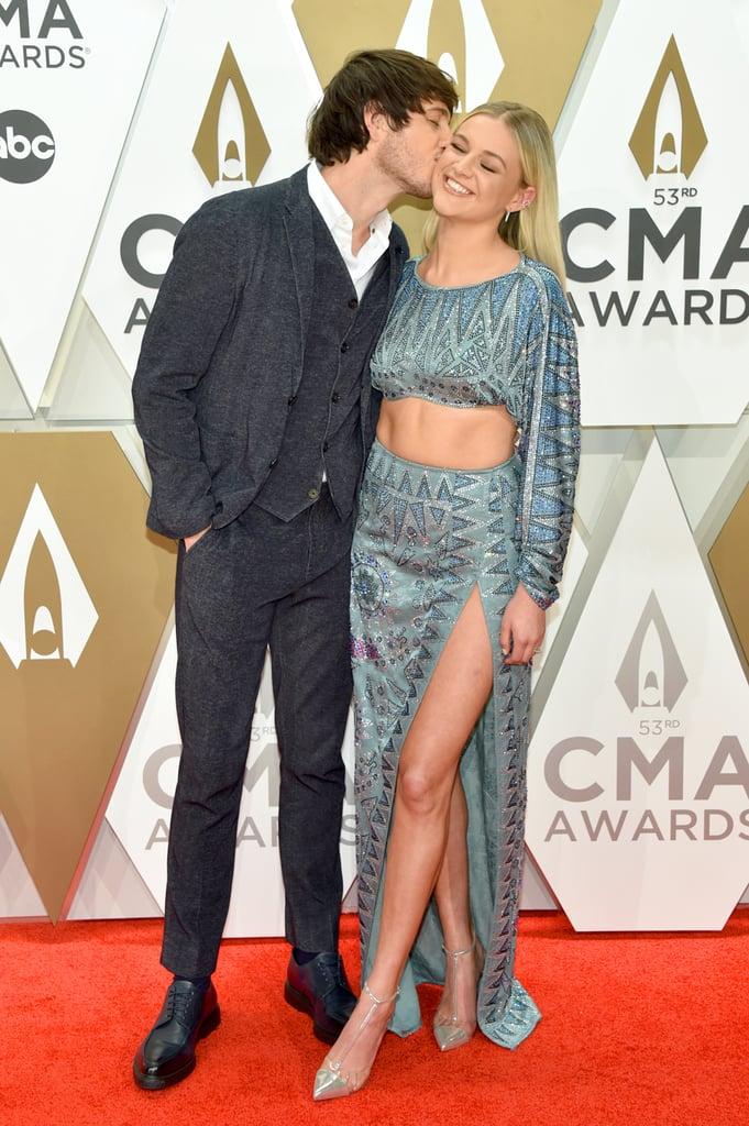 Morgan Evans and Kelsea Ballerini at the 2019 CMA Awards