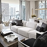 Joan Smalls's Living Room With Miami City Views
