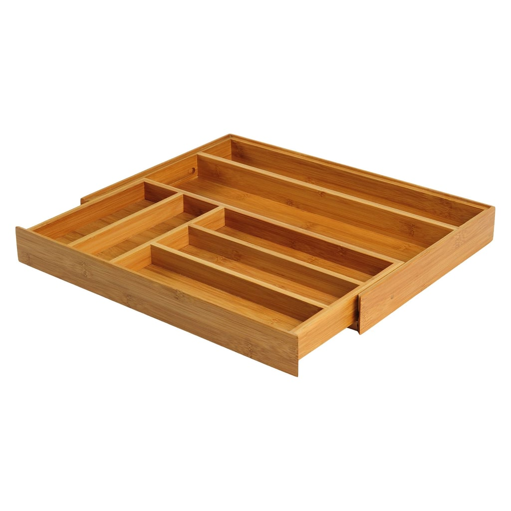 Bamboo Expandable Flatware Drawer Organiser