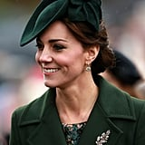 A particularly pretty piece is the Victorian diamond oak leaf brooch set with pearl acorns, which Kate wore to a Sandringham church service at the end of 2015.