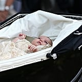 This Sweet Look at Charlotte in Her Pram