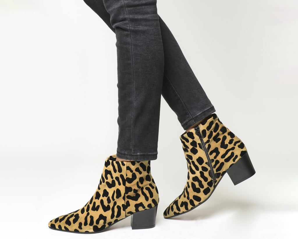 8d3afad0a0d7 Office Aruba Pointed Leopard Suede Block Heel Boots | Where Can I ...