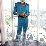 Billy Porter's Blue Sequinned Outfit at the Grammys 2020