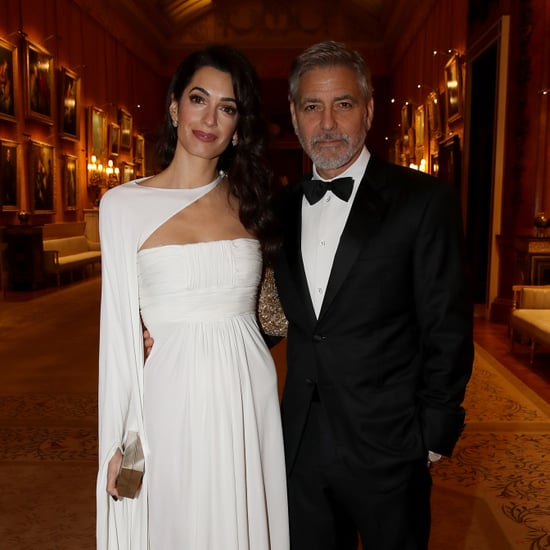Amal Clooney White Dress at Prince's Trust Dinner March 2019