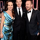 Juliette Lewis and Aaron Paul buddied up with Benedict.
