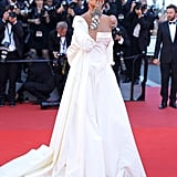 Rihanna was a vision in white at the screening of Okja in 2017.