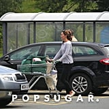 A month after Prince George was born, Kate Middleton was seen out shopping on the island of Anglesey.