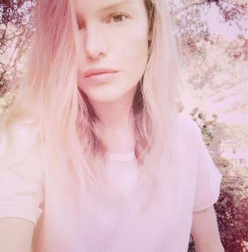 Kate Bosworth snapped this dreamy photo while showing off her new favorite t-shirt. Source: Twitter user katebosworth