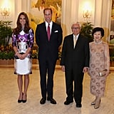 Kate Middleton and Prince William snapped some photos with Tony and Mary Tan.