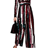 Sandra's Exact Zuhair Murad Striped Sequined Tulle Jumpsuit