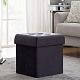 Tufted Velvet Square Storage Ottoman Cube