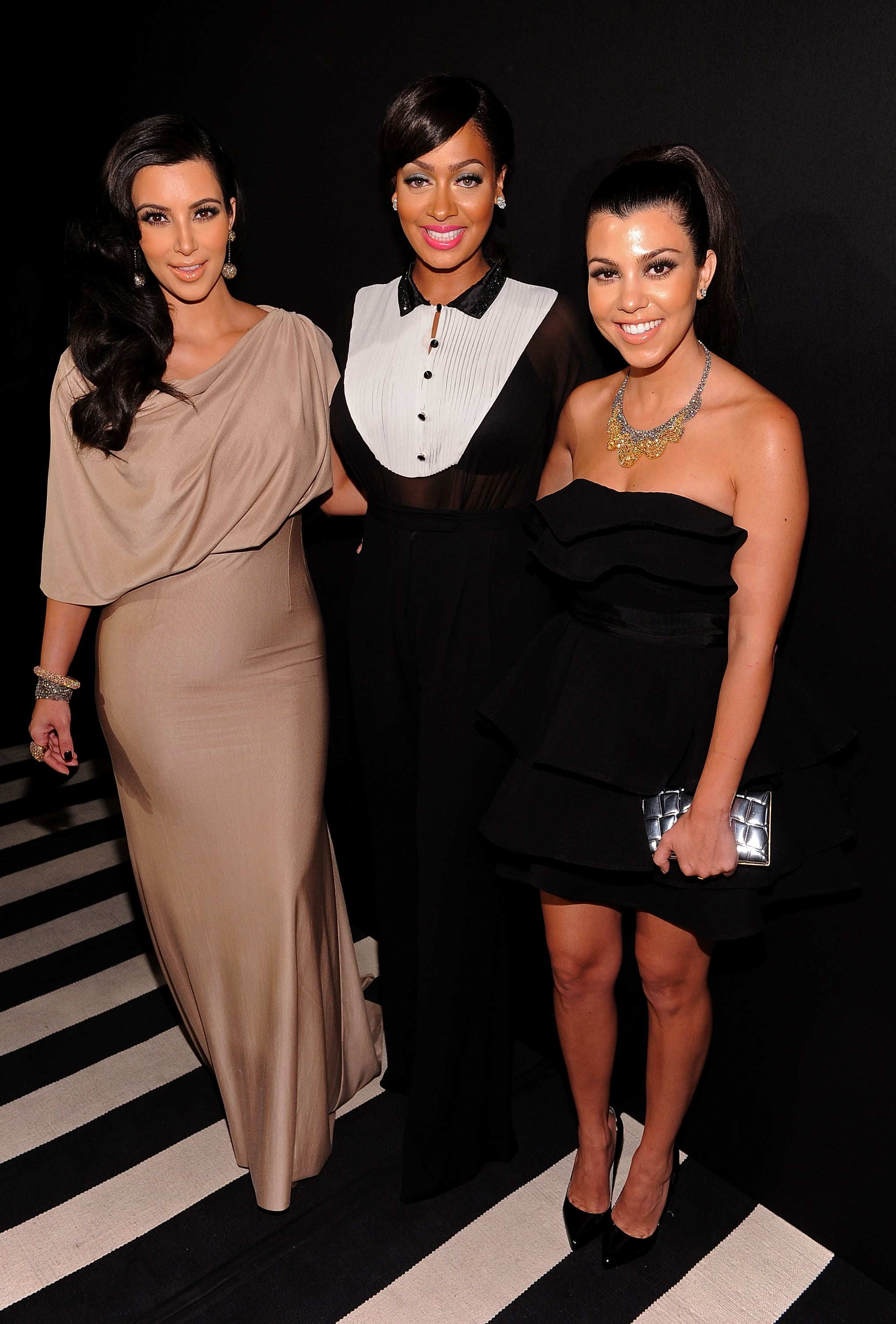 Kim Kardashian, Lia La Anthony and Kourtney Kardashian