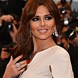 Smoky eyes and nude lips are Cheryl's signature look.
